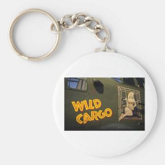 'Wild Cargo' Nose Art Basic Round Button Keychain