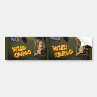 'Wild Cargo' Nose Art Bumper Sticker