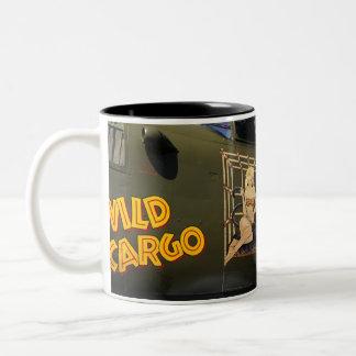 'Wild Cargo' Nose Art Two-Tone Coffee Mug