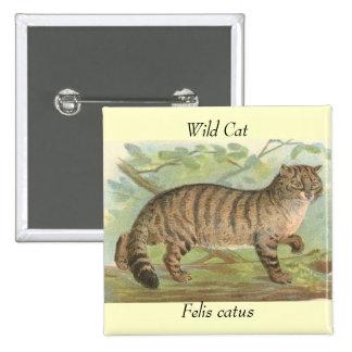 Wild Cat 2 Inch Square Button