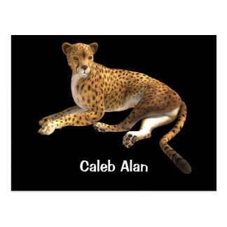 Wild Cat Cheetah Spotted Cat Animal Personalized Postcard