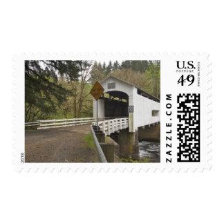 Wild Cat covered bridge, Lane County, Oregon 2 Postage Stamp