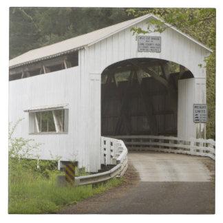 Wild Cat covered bridge, Lane County, Oregon Ceramic Tile