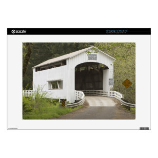"Wild Cat covered bridge Lane County Oregon 15"" Laptop Skin"