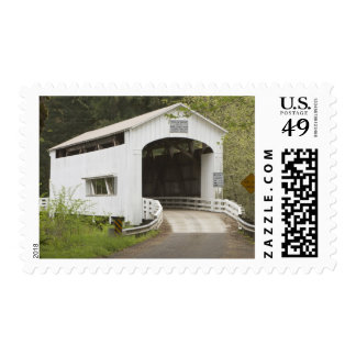 Wild Cat covered bridge, Lane County, Oregon Stamp