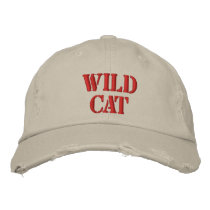 WILD CAT EMBROIDERED BASEBALL HAT