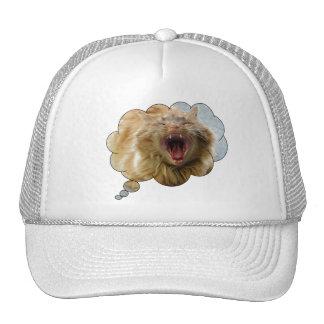 Wild Cat inside Trucker Hat