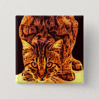 WILD CAT KITTEN BUTTON