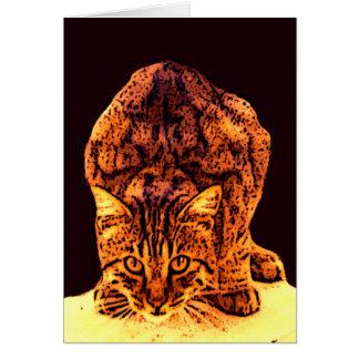 WILD CAT KITTEN CARD