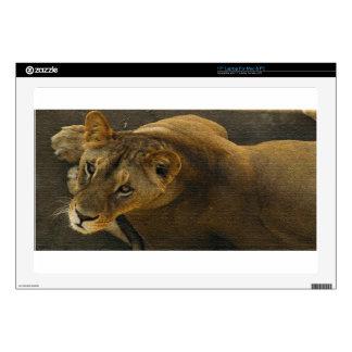 "WILD CAT LION MOTHER 17"" LAPTOP DECALS"