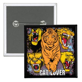 Wild Cat Lover Pinback Button