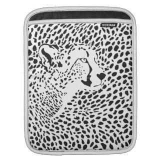 Wild Cat Skin Black Pattern iPad Sleeves