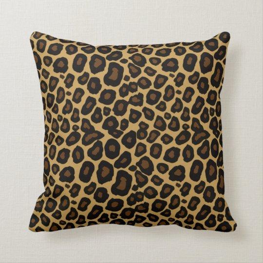 Wild Cat Toon Print Throw Pillow