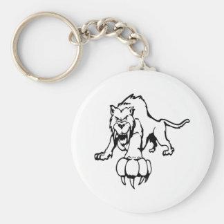 Wild cat, wildcat, bobcat, cat, panther, puma, mou keychain