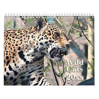 Wild Cats Animal Wildlife Calendar