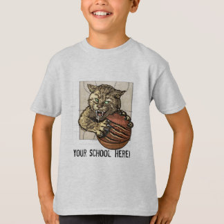 Wild Cats Basketball by Mudge Studios T-Shirt