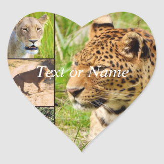 wild cats heart stickers