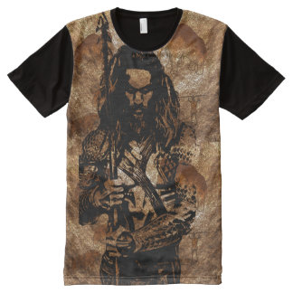 WILD CAVE MAN All-Over-Print T-Shirt