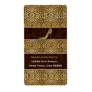 Wild Cheetah Animal Print for Her Label
