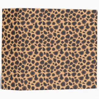 Wild Cheetah Animal Print Sexy Wilderness Pattern Binder