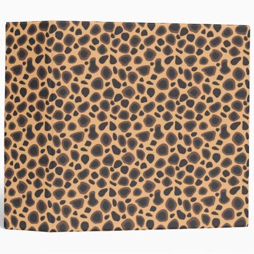 Wild Cheetah Animal Print Sexy Wilderness Pattern Vinyl Binders