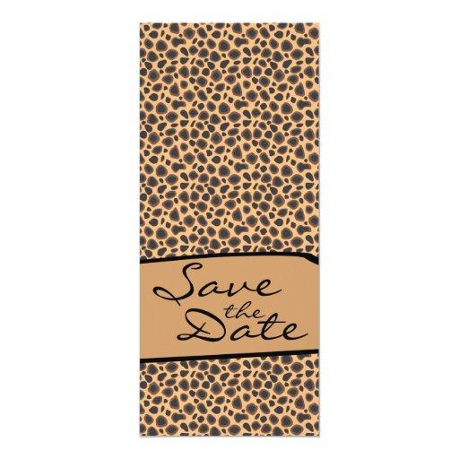 Wild Cheetah Animal Print Sexy Wilderness Pattern Invites