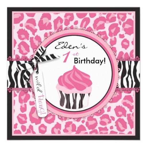 Personalized Leopard print party Invitations – Cheetah Birthday Invitations