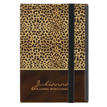Wild Cheetah Print Custom Name iPad Mini Covers