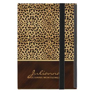 Wild Cheetah Print Custom Name iPad Mini Covers