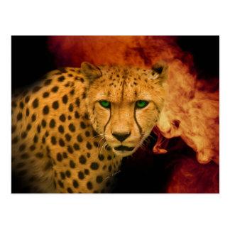 Wild Cheetah's Passion – Digital Art Edition Postcard