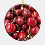Wild Cherries Christmas Ornaments