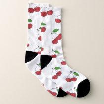 Wild Cherries Pattern Socks