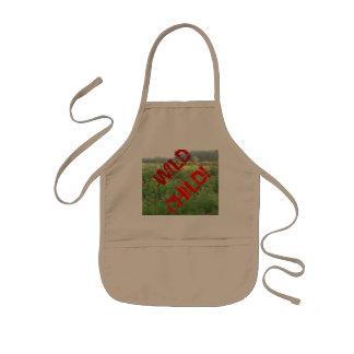 """Wild Child"" apron/bib Kids' Apron"