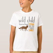 Wild Child Fox Design T-Shirt