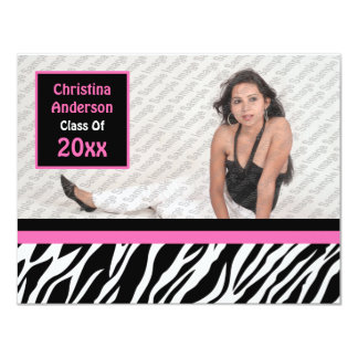 Wild Child Graduation Invitation (Pink)