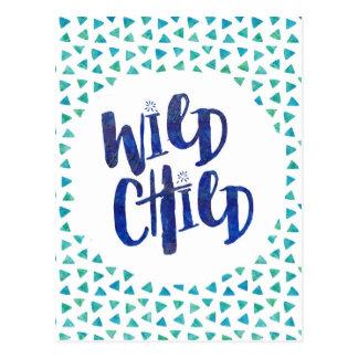 Wild Child Quote Postcard