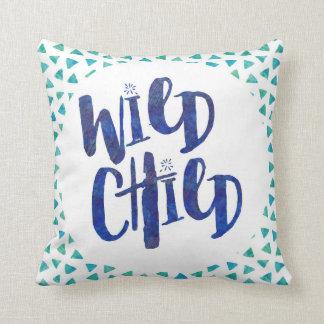 Wild Child Quote Throw Pillow