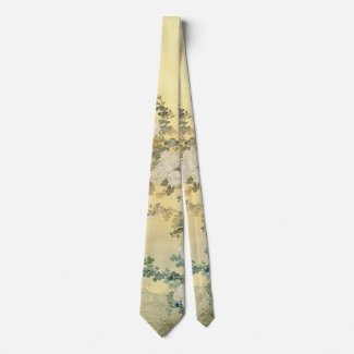 Wild Chrysanthemums 1870 Neck Tie