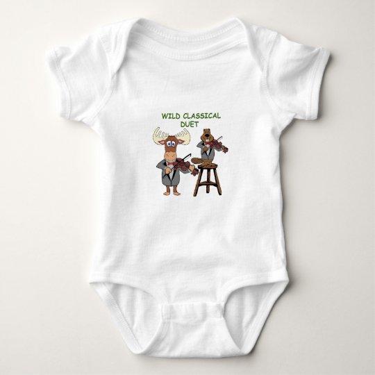 wild classical duet baby bodysuit
