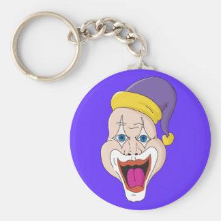 Wild Clown Basic Round Button Keychain