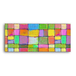Wild colorful fun modern abstract painting quilt envelope