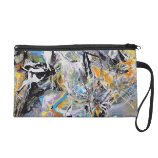 Wild Colors Abstract Wristlet
