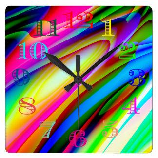 Wild Colors Clock Design