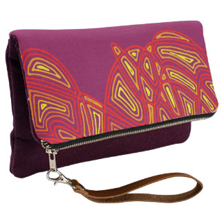 Wild Colors Scribbleprint Waves Clutch