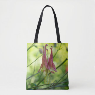 Wild Columbine Red Wildflower Floral Tote Bag