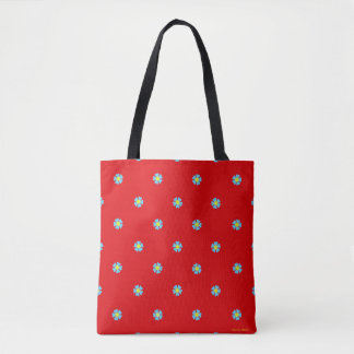 """Wild Cornflowers"" Red Tote Bag"