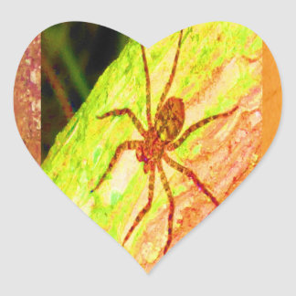 Wild Costarica - Spiders, Cockroaches and Insects Heart Sticker