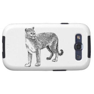 Wild Cougar Sketch Samsung Galaxy S3 Covers