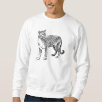 Wild Cougar Sketch Sweatshirt