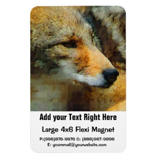 Wild Coyote - Painted Effect Close Up Photo Magnet